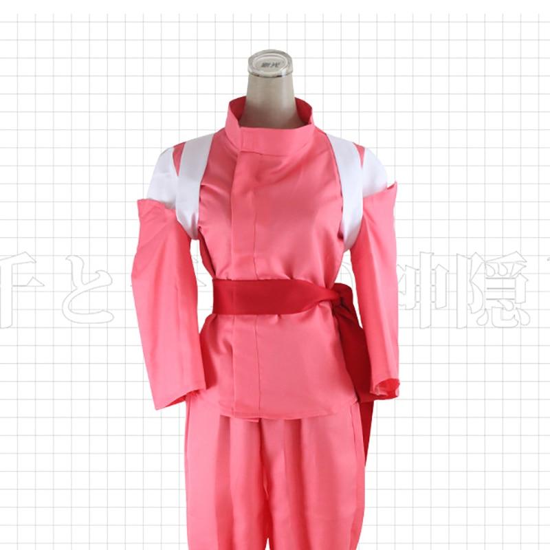 Аниме Унесенные призраками Огино Тихиро Косплэй Show Костюм Кимоно Holloween Партии форма наряды для женской одежды + Брюки для девочек Размеры S-XL