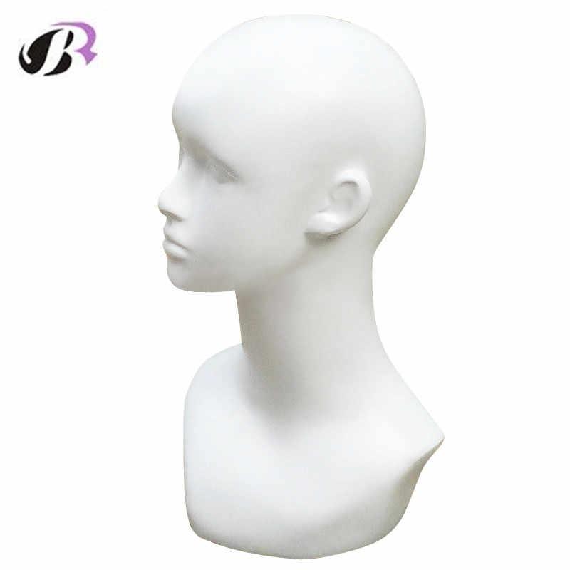 Darmowa wysyłka mężczyzna gładka głowa manekina Model peruka/kapelusz/okulary/czapki wyświetlacz bańka głowa manekina z uszami wyświetlacz głowa manekina