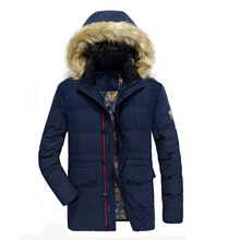 2017 New Arrivals Winter Jacket Men Parka Hooded Faux Fur Collar Thicken Warm Quilted Jackets Male Cotton Padded Coat Snow Coats