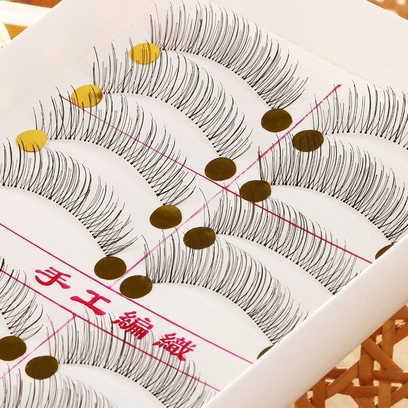 10 Pairs Makeup Handmade Natural Fashion False Eyelashes Soft Long Eye Lash Cosmetic