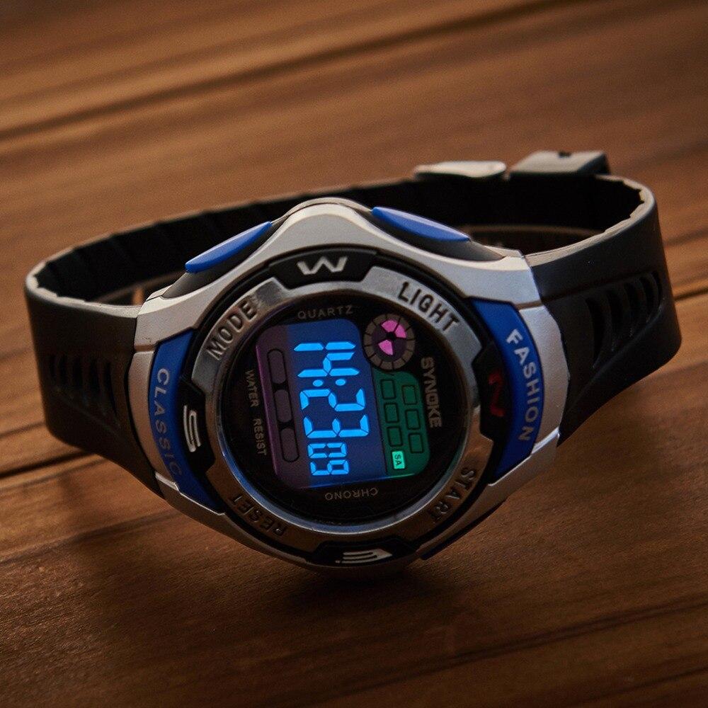Digital Wristwatches Children Watches Sport Timer Alarm Chrono 30M Waterproof Kids Watch Student Gift Black Green все цены