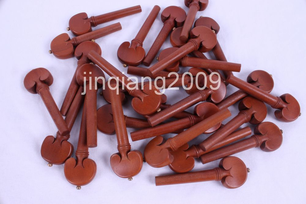 violin accessories pegs  25 set  [100pcs  rosewood    violin parts handmade new solid maple wood brown acoustic violin violino 4 4 electric violin case bow included