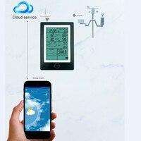 Беспроводной Bluetooth приложение термометр гигрометр давление дождей скорость ветра направление погода сигнализация Метеостанция WiFi