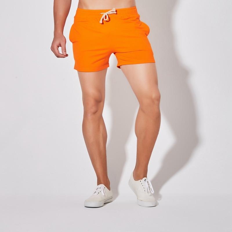 Men Short Shorts Summer Orange Jogger Shorts Male Plus Size Casual Cotton Sportswear Boys Badminton Fitness Running Shorts 4xl