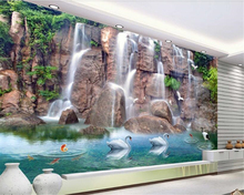 beibehang Super seductive three-dimensional decorative wallpaper wall paper high mountains 3D TV background 3d behang
