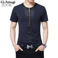 Zip Designs Summer Short Sleeved T Shirt Men S Trend 2017 New Men S Clothing Plus