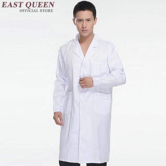 0c6b1b79536 Спецодежда медицинская одежда для мужчин и женщин белый Спецодежда  медицинская халат лаборатории пальто Короткие Длинные рукава