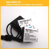Eeyrnduy 2x Battery 1x Charger CNP 130 NP 130 For Casio Exilim EX H30 H35 ZR200