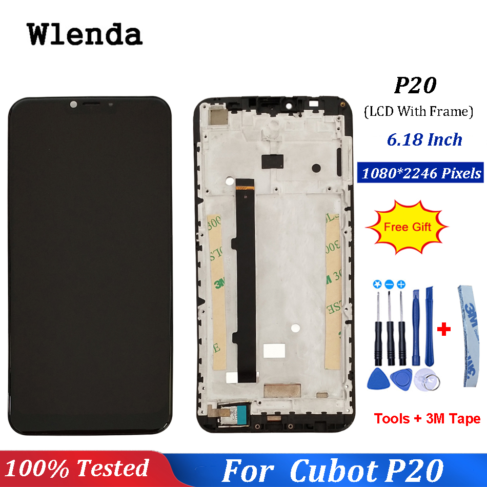 For Cubot P20 LCD Display and Touch Screen With Frame 6.18 Inch Digitizer Assembly Replacement With Tools For Cubot P20 PhoneFor Cubot P20 LCD Display and Touch Screen With Frame 6.18 Inch Digitizer Assembly Replacement With Tools For Cubot P20 Phone