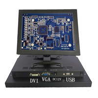 12 Inch 800x600 LCD Touch Screen USB Monitor Display VGA DVI For Xbox PS4 Raspberry Pi