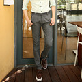 Casual Men Pants Spring Summer Mens Cotton Flax Trousers Midwaist Men's Long Pants Big Size 40 38 2016 Clothing Solid Trousers