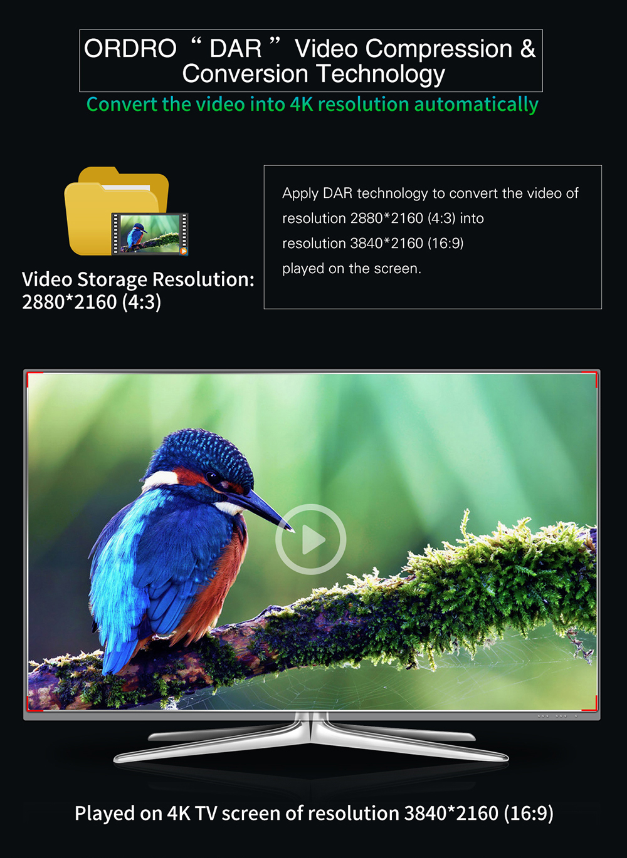 US $189 99 |ORDRO HDR AC3 UHD 4K Digital Video Cameras FHD 1080P 24MP WiFi  3 0