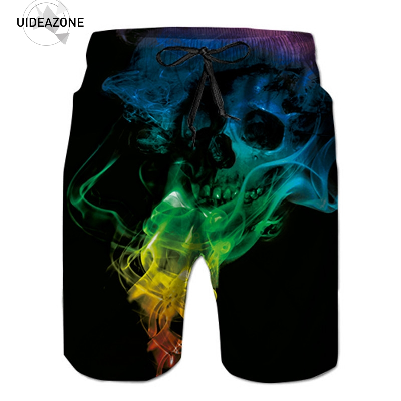 Shorts Men 2018 Casual Summer Beach Shorts Male Loose Work Short Pants Cool Skull Short Homme 3D Sweatpants Kurze Hosen Herren