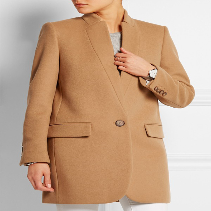 New UK Manteau femme 2020 Autumn Winter Women Wool Simple Career Coat Female Stand Collar Brand Classic Overcoat abrigos mujer abrigos mujer coat femalemanteau femme - AliExpress