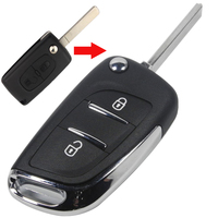 2 Button Replacement Modified Flip Folding Remote Key Shell Case For Peugeot 307 308 408 With VA2 No Groove Blade CE0536