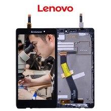Original del 100% Para Lenovo Vibe Z LCD de Pantalla Táctil con marco Para Lenovo Vibe Z Pantalla Digitalizador Asamblea piezas de Repuesto K910