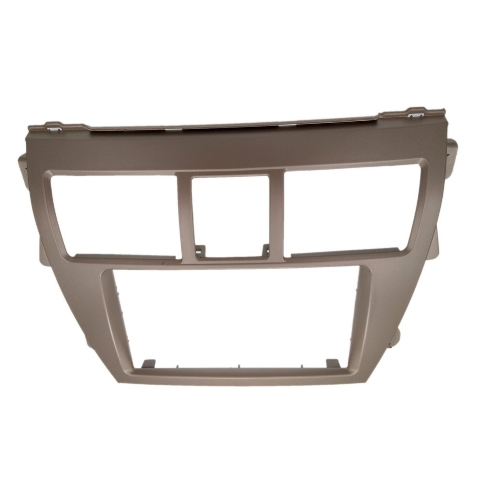 Car Styling Silver Double 2din Car Audio Frame Fascia For