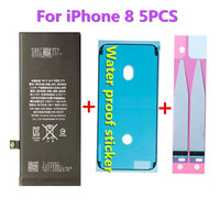 5Pcs/lot Original AYJ Best Quality Mobile Phone Batteries For iPhone 8 1821mAh 3.82V Li ion Replacement Battery with Gifts