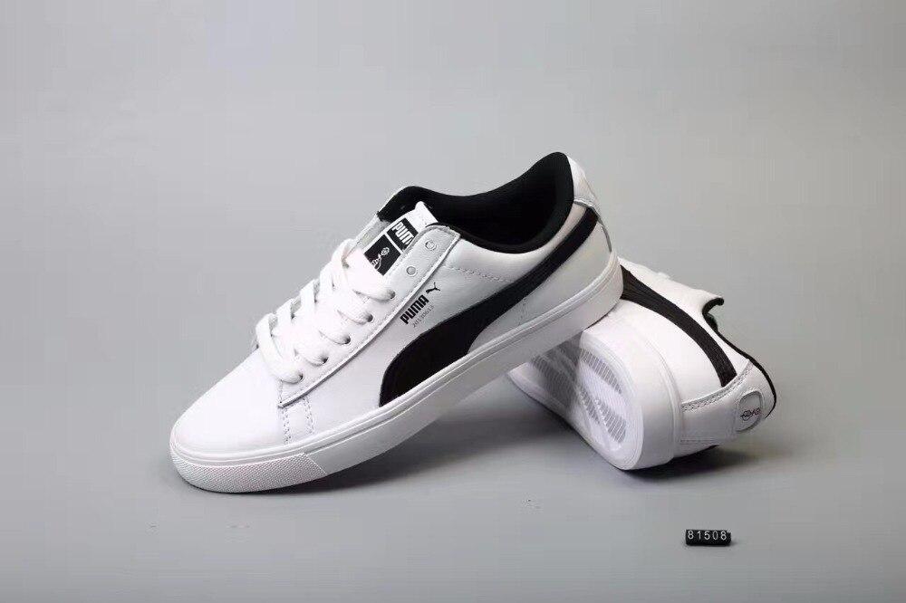 free shipping 61eb5 b3bc4 US $48.06 17% OFF|Original BTS X Puma Collaboration Puma Court Star Korea  Woman's Cadet Shoes Men's Sneakers (20130613) Badminton Shoes Size36 44-in  ...