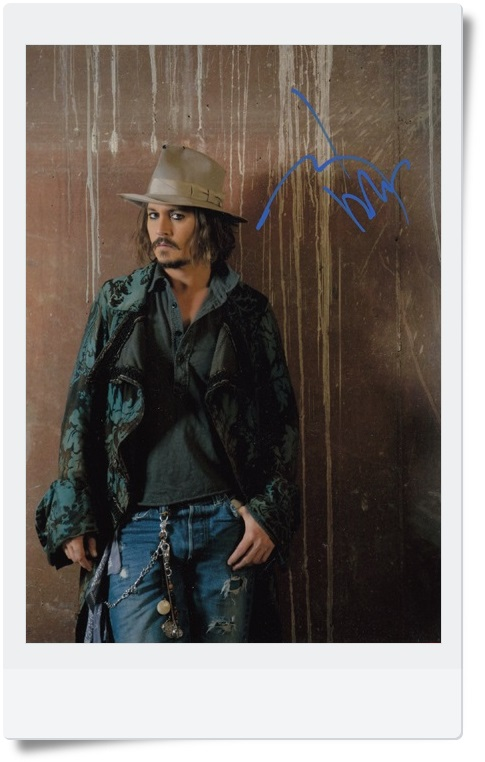 signed Johnny Depp autographed original photo 7 inches 5 versions chosen freeshipping 062017 B