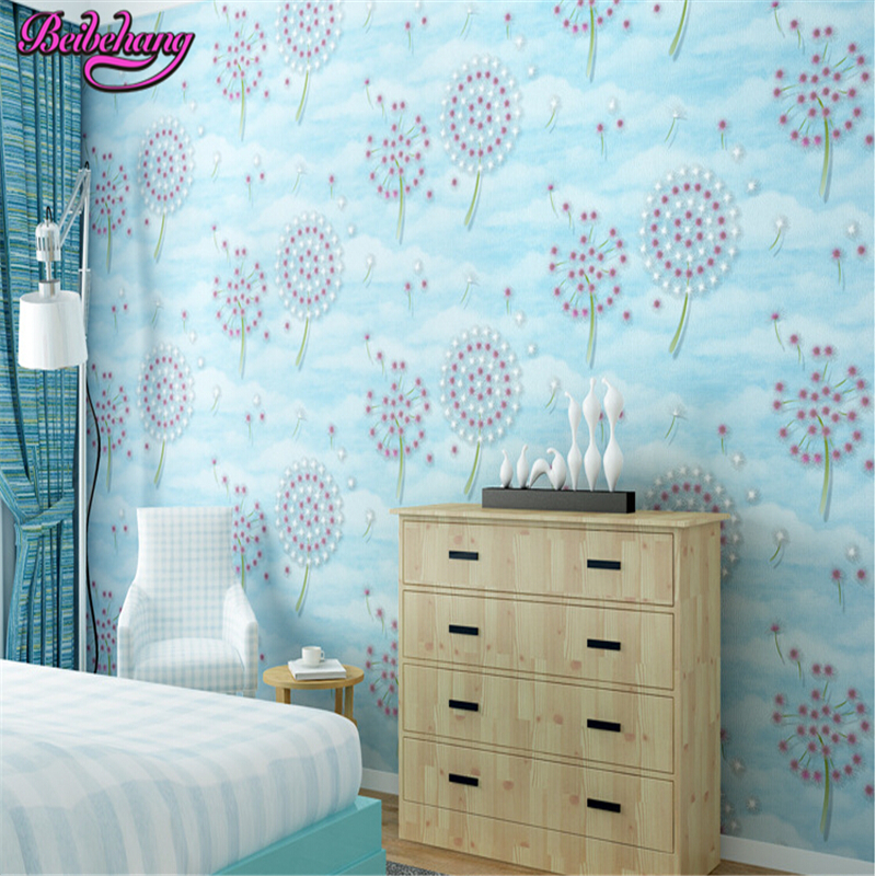 beibehang papier peint Non woven wallpaper living room TV background wall paper warm dandelion wallpaper papel de parede tapety beibehang modern wall murals wallpaper for wall bedroom living room tv background wall paper papel de parede sala papier peint