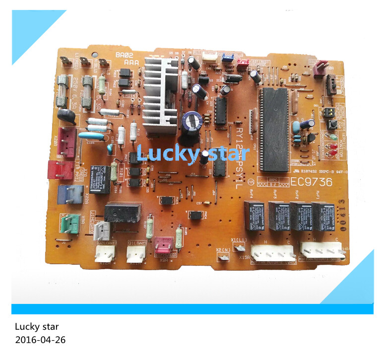 95% new for Air conditioning board circuit board RY125FPSY1L EC9736 computer board good working sinobi top brand luxury wrist watches stainless steel watch men watch 3bar waterproof men s watch clock saat erkek kol saati