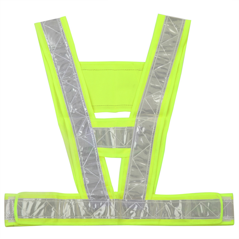 2016 Neon Lime Yellow Reflective Vest V Clothing High Visibility Safety Belt Pet Clothing