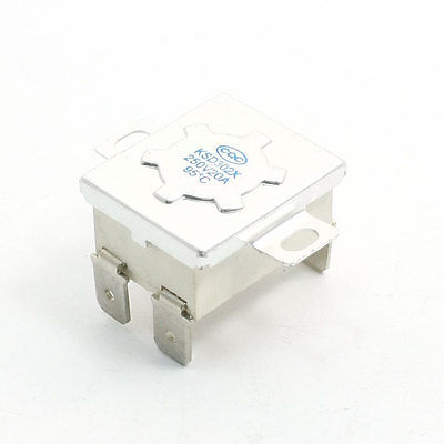 AC 250V 20A NC 95C Temperature Control Switch Bimetal Thermostat 2pcs ksd9700 250v 5a bimetal disc temperature switch n o thermostat thermal protector 40 135 degree centigrade