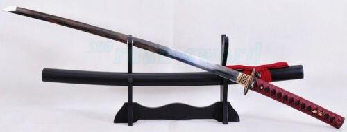Clay Tempered Qatlanmış Polad Bıçaq Atı Tsuba Yapon Samurai - Ev dekoru - Fotoqrafiya 6