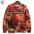 Mr.1991INC Harajuku Autumn Winter fashion Men/Women's 3d Sweatshirts print Romantic flowers roses 3d hoodies tops WT78