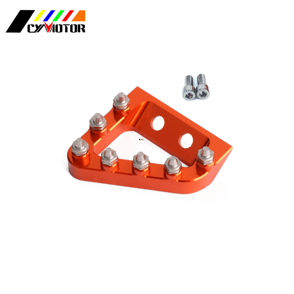 цена на Rear Brake Pedal Step Tip For KTM SX-F SX EXC-F XC-F XC-W EXC TPI Six Days 125 150 200 250 350 450 500 2017 2018 17 18 Dirt Bike