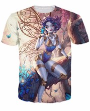 Summer Style Sexy Women Men Tees t shirt beautiful Mec Fairy T-Shirt steampunk fairy surrounded by butterflies Tops