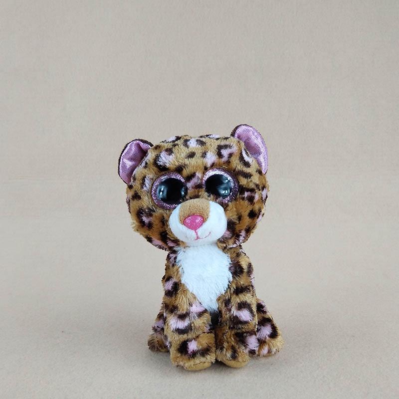 14cm Kawaii Ty Beanie Boos Big Eyes Brown Cat Plush Soft Stuffed Animals Doll Toys For