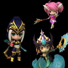 New game L size Q  pvc action figure Lux Katarina Du Couteau Ashe Nami model toy brinquedos christmas gifts juguetes hot