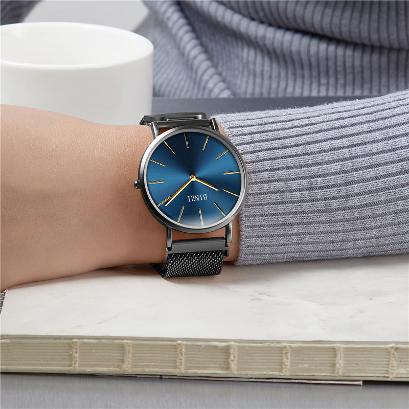Mens Wristwatches Quartz Watches Top Brand Luxury Watch Men Thin Clock Fashion Mesh Strap gold Watch Relogio Masculino Saat woonun top brand luxury gold watches men classic man clock rhinestone crystal quartz wrist watches for men thin mens watches