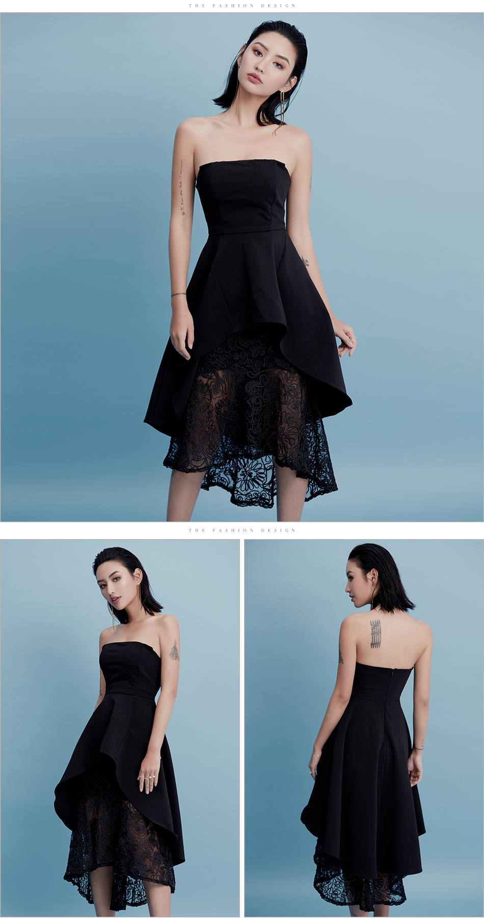 Adyce 2018 New Summer Dress Chic Lace Strapless Black Party Dress ...