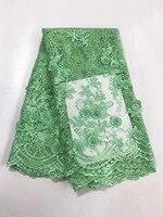 5 ярдов/серия 2017 Высокое качество Аппликация в нигерийском стиле французский Африки кружевной ткани для праздничное платье fc17 jyz06, африка кр