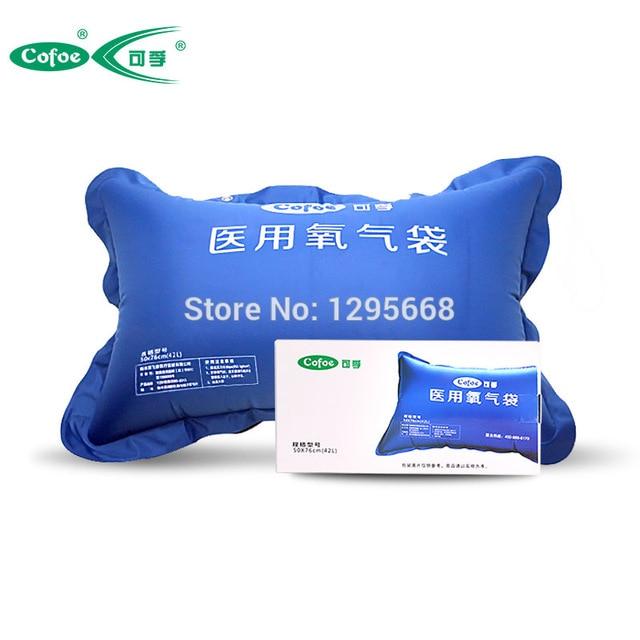 Cofoe PVC 42ML/50ML Medical Oxigen Bag Household & Portable Oxigen Pillow Supply for Elderly and Pregant