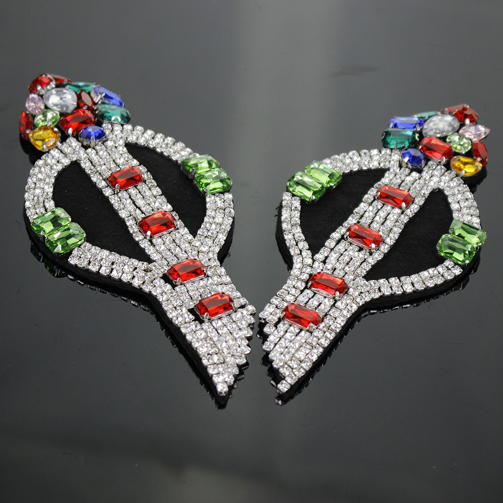 1piece Craft Beading Arrow Embroidery Applique Badge DIY Beaded Crystal Patches Clothes Decorated Sewing Accessories TH617