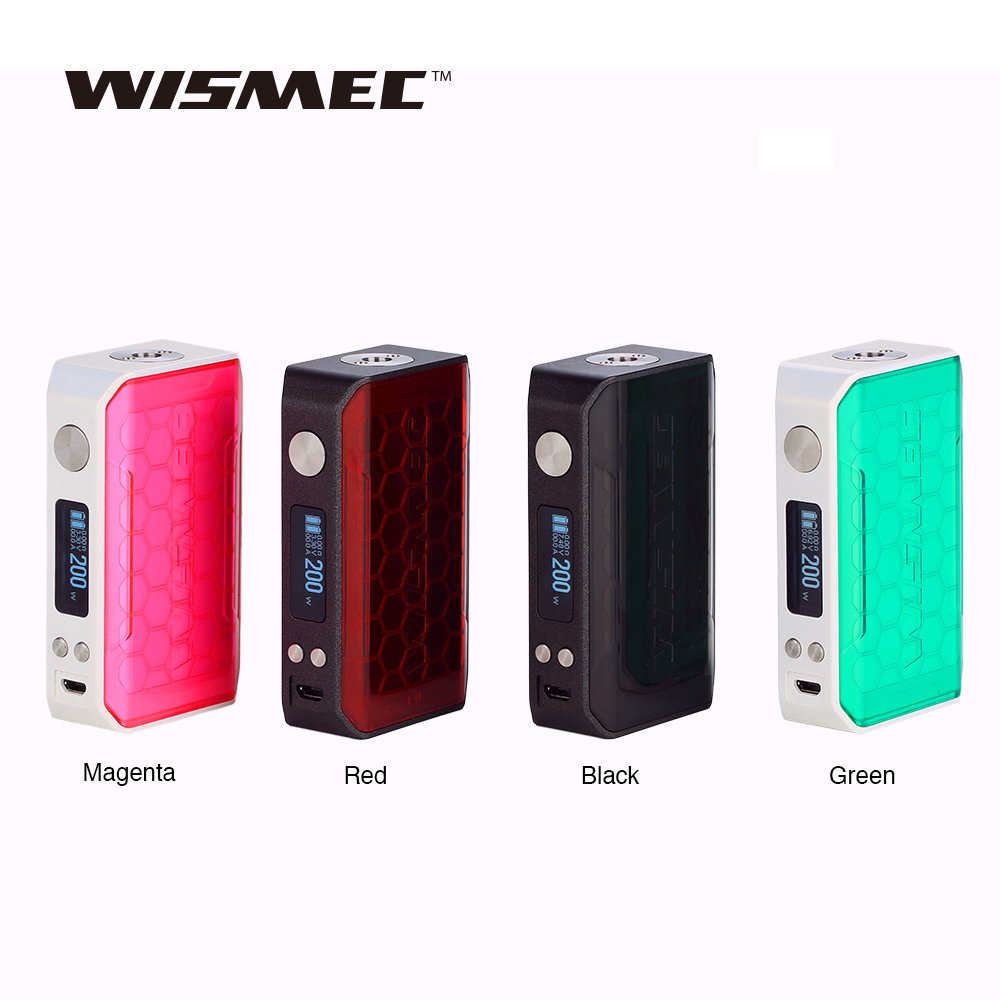 Original 200W WISMEC SINUOUS V200 TC Box MOD with 0 91 Inch OLED Screen power by