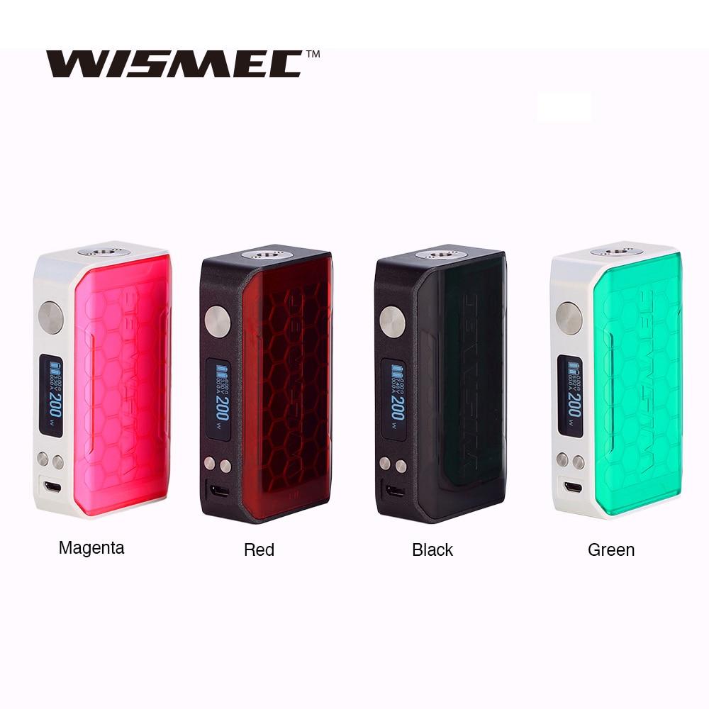 Original 200 W WISMEC sinueux V200 TC boîte MOD avec 0.91 pouce OLED écran puissance par double 18650 batterie vape mod vs sinueux P80