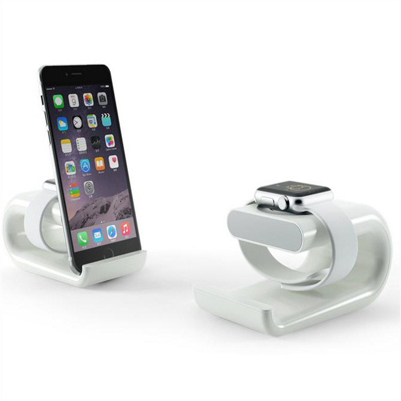 Apple Watch Charging Stand and iPhone Dock Station Cradle Holder NightStand With Acrylic iPhone stand for iPhone 4 /5 / 6//iPad super light plastic stand for iphone 5 ipad more green