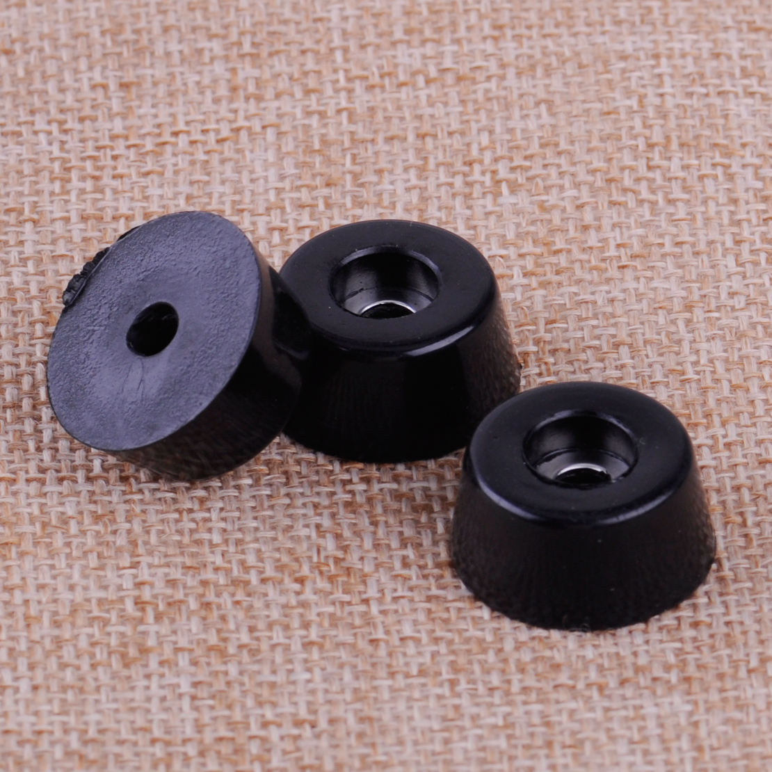8pcs Black Speaker Cabinet Furniture Chair Table Box Conical Rubber Foot Pad Stand Shock Absorber S / M / L Skid Resistance