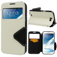 For Galaxy Note2 Leather Case Roar Korea Fancy Diary View Window Leather Case For Samsung Galaxy