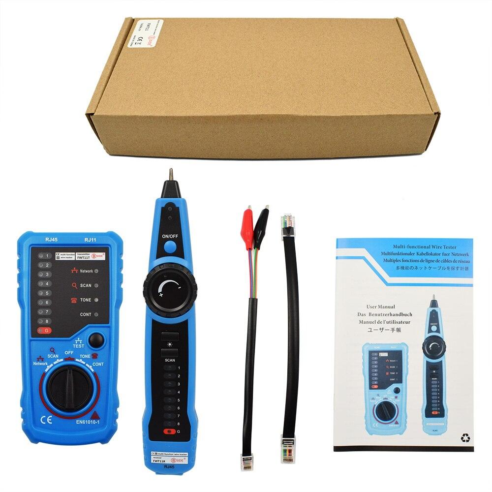 Купить с кэшбэком LAN Tester LAN Network Cable Cat5 Cat6 RJ11 RJ45 Detector Telephone Wire Tracer Cable Tracker Toner Ethernet Line Finder