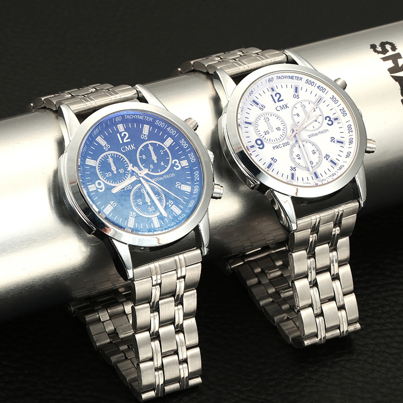 2017 New Fashion Mens watches top brand Luxury Three dial Work Alloy Waterproof men s Business