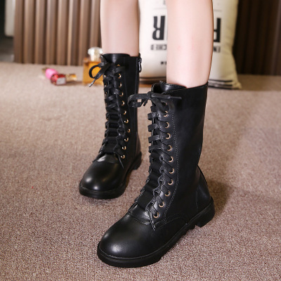 Wendywu 2017 Winter shoes Boots for girls and boys Cool Martin boots Two options Plus cashmere and no cashmere