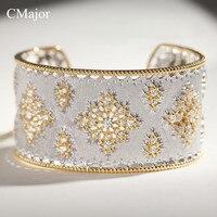 Cmajor 925 одноцветное серебряные украшения цветок полые дворец винтажный дизайн Запад элегантные браслеты для женщин