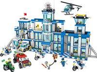 Bela 10424 890Pcs City Police Station Motorbike Helicopter Building Blocks Educational Toys For Kids Gifts