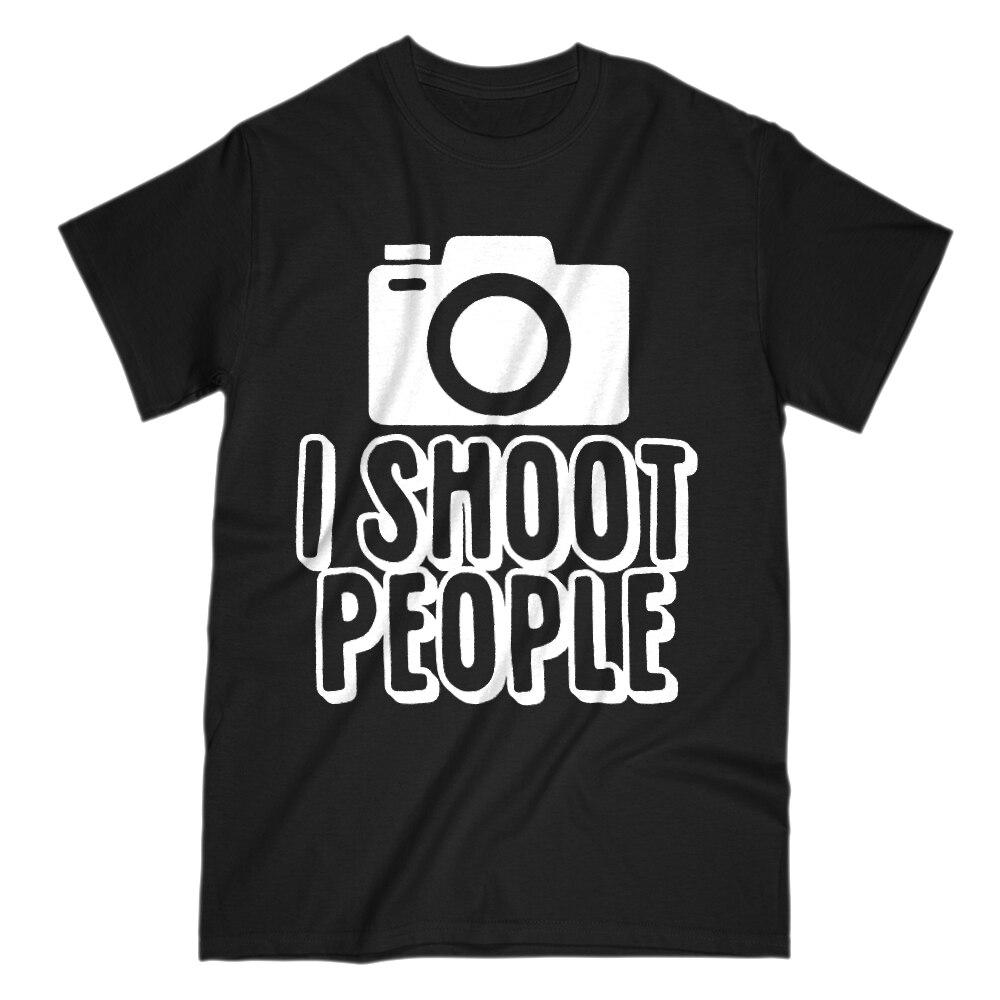 Я стрелять в людей смешные фотографии Lover Мужская S рукава футболка с принтом Мужские Лето ...